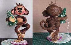 Игрушка Мастер-класс Новый год Моделирование конструирование Мастер - класс обезьянки из фома Пенопласт Фоамиран фом фото 33