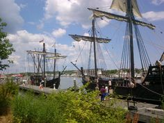 The Nina and Pinta sailed into Lewes Harbor yesterday!  More pictures of Lewes on www.richsellslewes.com