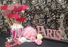 Photo booth props for girls in ... A night in Paris!
