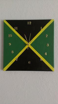 Jamaican Clock by HomemadeGlory on Etsy, $30.00