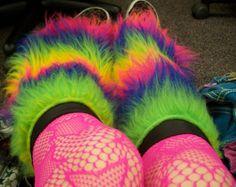 fuzzy leg warmers :>