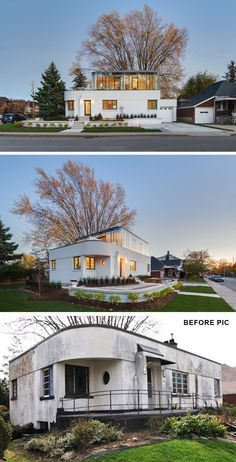 """Architecture Homes Art Deco contemporist: """" This Streamline Moderne House Got A Contemporary Renovation And Addition """" Residential Architecture, Contemporary Architecture, Amazing Architecture, Architecture Design, Contemporary Houses, Pavilion Architecture, Organic Architecture, Landscape Architecture, Modern Exterior"""