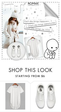 """""""White T-Shirt"""" by woo-tang ❤ liked on Polyvore featuring Vans, Nivea and romwe"""