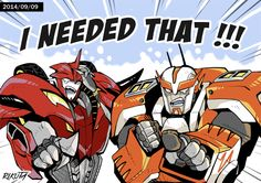 Transformers Prime: Knockout (was decepticon/now autobot) & Ratchet (autobot)- I NEEDED THAT