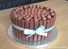 Kit Kat and Maltesers Cake