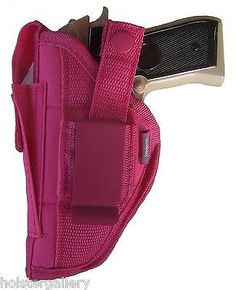 Pink Gun holster w/mag pouch fits Colt Defender use left or right handed for sale online Pink Hand Guns, Pink Guns, Gun Holster, Leather Holster, Holsters, Kimber Pro Carry Ii, M&p Shield, How To Draw Hands