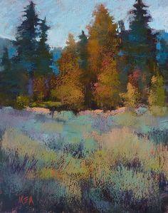 California Impressionist  SUNRISE Trees by KarenMargulisFineArt