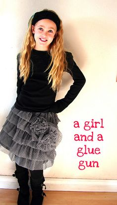 A girl and a glue gun: cute tiered skirt that only took me two years to do...