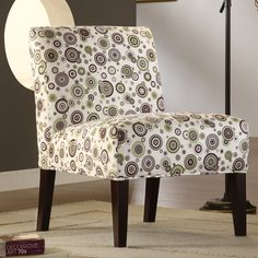ETHAN HOME Decor Bubble Print Lounge Chair | Overstock.com