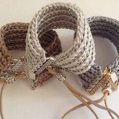Design your own photo charms compatible with your pandora bracelets. crochet cuff bracelet