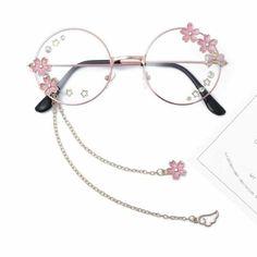 Round Lens Sunglasses, Cute Sunglasses, Sunglasses Women, Italian Sunglasses, Round Eyeglasses, Fake Glasses, Glasses Frames, Ladies Glasses, Kawaii Accessories