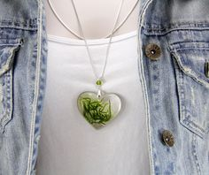 Moss and Resin Necklace, Chunky Necklace, Woodland Necklace, Rustic Necklace, Terrarium Jewelry, Terrarium Necklace by JasmineThyme on Etsy