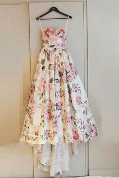 Unique sweetheart neck long prom dress, evening dress