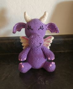 Delilah the Dragon!  Handmade Crochet Stuffed Animals by KuddlesAndKritters!