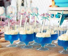 festa pequena sereia gelatina