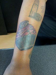 Cupcake tattoo by hung at hung tattoo parlor