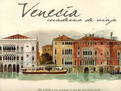 Illustrations by Fabrice Moireau Venice Sketchbook--this is one of my favorite books. It is filled with lush watercolors of Venice along with text by Tudy Sammartini Fabrice Moireau, Png Vector, Santa Lucia, Urban Sketchers, Semarang, Paris, Art Techniques, Watercolor Techniques, More Pictures
