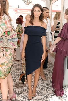 Face in the crowd: The model-turned-actress had that star quality as she stood among the o...
