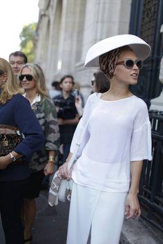 **http://www.wwd.com/fashion-news/they-are-wearing/they-are-wearing-paris-fashion-week-7184099/slideshow#/slideshow/article/7184099/7207227** Eva Ana Kazič + Different eyewear, Paris Fashion Week 2013