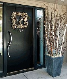 A merry, minimalist holiday door