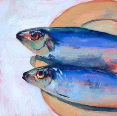 """""""Somethings Fishy"""" - Original Fine Art for Sale - © Brenda Ferguson"""