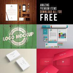 Premium Mock-up Templates for FREE #mockuptemplates #mockupdesign #presentationmockups #psdmockups #photoshopmockup
