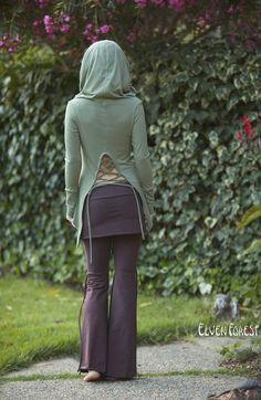 Athena Tie-Up Pants and skirt Flow pants bohemian por ElvenForest