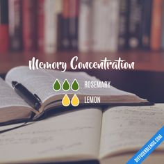 Memory Concentration - Essential Oil Diffuser Blend