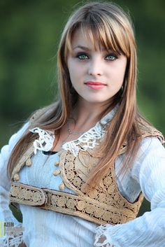 A beautiful Kosovo girl in her traditional costume - Azem's Image