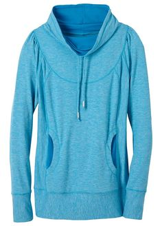 The prAna Ember Top blends ergonomic and princess seaming for comfortable movement and a flattering silhouette. An oversized cowl neck is both comfortable and adjustable via drawcord. Quick drying stretch fabric is ready to perform on runs and during outdoor workouts.Great For Yoga, FitnessFitted Stretch Moisture Wicking    Heathered performance knit    Ergonomic seams    Front pockets on princess seams    Oversized cowl neck with adjustable drawcord    Fitted    92 Polyester 8