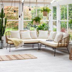 Corner Sofa Garden, Garden Sofa Set, Corner Sofa Set, Garden Chairs, Balcony Garden, Sofa Design, Design Furniture, Furniture Sets, Garden Furniture