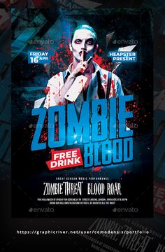 Buy Halloween Zombie Party Flyer Template by Comodensis on GraphicRiver. Halloween Flyer, Halloween Poster, Halloween Carnival, Halloween Design, Halloween Night, Halloween Zombie, Fall Halloween, Halloween Party, Graphic Design Flyer