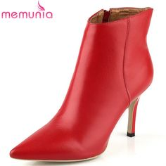 63.00$  Watch here - http://alij3b.worldwells.pw/go.php?t=32391141527 - ankle boots new arrive fashion shoes stiletto high heels boots women genuine leather boots spring fashion shoes 63.00$