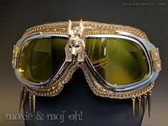 """Goggles: """"Annubis"""" ~ Anti-Dust Goggles that work great for Burning Man! by…"""