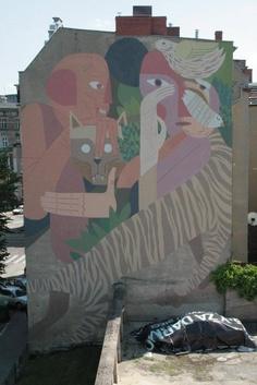 Gruz i Otecki | Czarnieckiego 14 - Festiwal Murali Outer Spaces #Poznan #Mural #Art