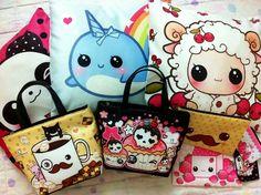 Cute kawaii bags and pillows comfy and cute.