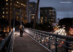 Passarela Marcelo Fromer. Localizada na Avenida Juscelino Kubitschek, em São Paulo, SP, Brasil, a passarela é uma homenagem ao integrante do grupo musical Titãs, morto devido a um atropelamento, no local.
