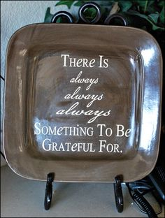 Love this!  I would type it up in a cute font and frame it as a Thanksgiving decoration.