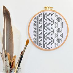 AZTEC cross stitch pattern aztec cross stich BORDER pack tradtional hand embroidery design, xstitch x stich counted charts primitive tribal