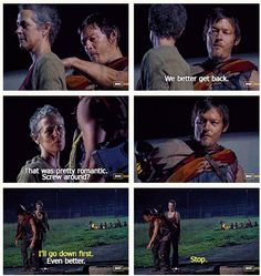 The Walking Dead, Season 3.  She had to hit on him because he's wearing The Poncho.