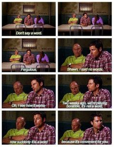 Psych used to be the best show ever! I love Shawn and Gus! Shawn And Gus, Shawn Spencer, Funny Shit, The Funny, Funny Stuff, Funny Things, Random Stuff, Daily Funny, Random Things