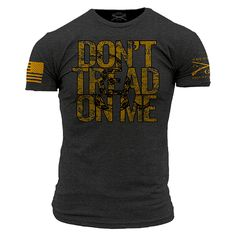 6296174156c Don t Tread On Me Charcoal T-Shirt- Grunt Style Men s Short Sleeve Tee Shirt
