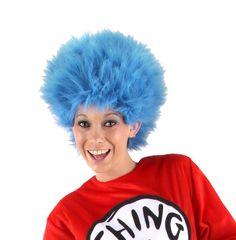 Thing 1 & 2 Wig Dr. Seuss Blue Troll Wig