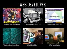 La realidad de los web developers. LOLAZO