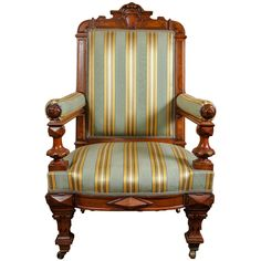 19th Century Fine American Renaissance Revival Library Chair For Sale at 1stdibs