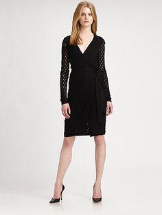 Diane von Furstenberg - Zalda Lace Wrap Dress - Saks.com