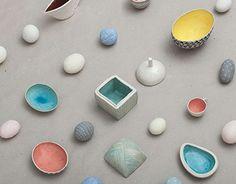 KAS CERAMICS is about simple forms, bright colors, geometric patterns. Bright Colors, Behance, Pottery, Ceramics, Gallery, Simple, Check, Behavior, Bright Colours