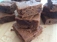 Triple Chocolate Protein Brownies!   Gluten Free, Dairy Free & Paleo!   The perfect treat!  http://thewonkyspatula.com/2015/07/19/triple-chocolate-protein-brownies/