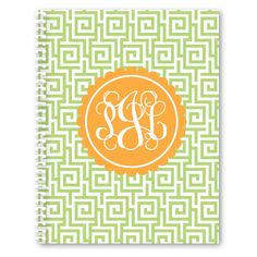 Everyone will be coveting this monogrammed spiral notebook at your next staff meeting. Personalize with your own color combo and monogram. Organization doesn't have to look boring!