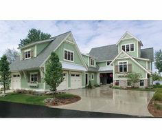 New American House Plan with 4448 Square Feet and 5 Bedrooms(s) from Dream Home Source | House Plan Code DHSW64898